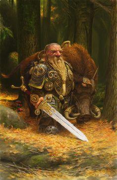 """theartofanimation: """" Adrian Smith """" Fantasy Myth Mythical Mystical Legend Elf Elves Sword Sorcery Magic Dwarf Dwarves Forest"""