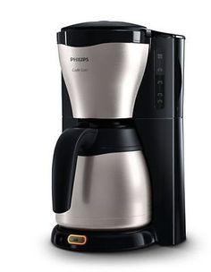 Philips HD7546/20 Gaia Filter Kaffeemaschine mit Thermokanne schwarz/metall 1000; EEK A+++sparen25.com , sparen25.de , sparen25.info