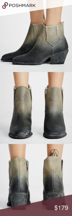 """✅70% OFF✅🎀NEW🎀FP Williams Ankle Boot 🎈FINAL PRICE🎈🎀NEW🎀 Free People Williams Ankle Boot. Western Inspired Ankle Boots featured in a distressed worn in leather. Side Goring for easy fit with embroidery detailing. Stacked heel. Heel 2.75"""". Shaft 5"""".  They run a bit small. Website says to size up as they are Euro sizing. ❌no trading or holding. 🎀PRICE IS FIRM NOT ACCEPTING OFFERS🎀 Free People Shoes Ankle Boots & Booties"""