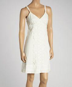 This Bleach Lace Sleeveless Dress is perfect! #zulilyfinds