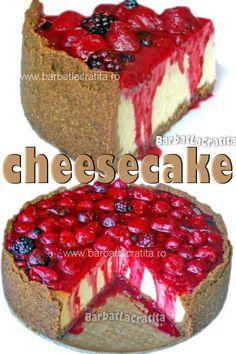 Cheesecake - prajitura cu branza si topping din fructe de padure. Tiramisu, Biscuit, Cheesecake, Ethnic Recipes, Food, Cheesecakes, Essen, Meals, Crackers