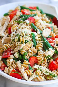 Chicken Pasta Salad With Plums, Feta & Cumin Dressing Recipe ...