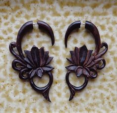 Hey, I found this really awesome Etsy listing at https://www.etsy.com/listing/168119421/malee-hand-carved-tribal-earrings-lotus