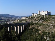 גשר המגדלים ומצודת אלבורנוז, ספולטו. צילום: Archivio IAT di Spolet