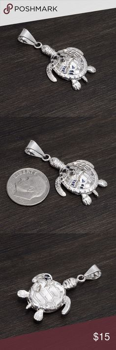 ‼️Clearance‼️Sterling Silver Turtle Stamped 925. Sterling silver is an alloy of silver containing 92.5% by mass of silver and 7.5% by mass of other metals, usually copper. The sterling silver standard has a minimum millesimal fineness of 925.  All my jewelry is solid sterling silver. I do not plate.   Hand crafted in Taxco, Mexico.  Will ship within 2 days of order. Jewelry Necklaces