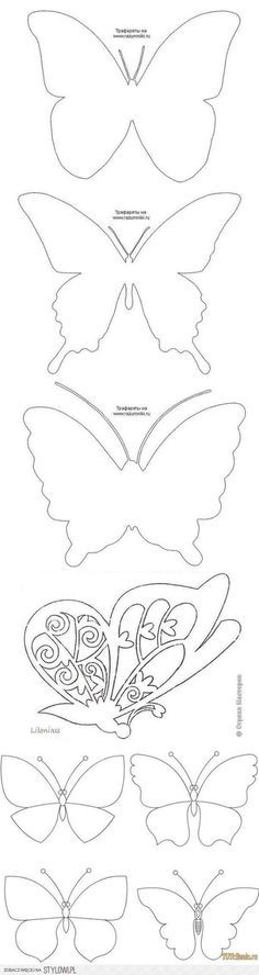 Butterfly template to color, appliqué, etc. Diy And Crafts, Crafts For Kids, Arts And Crafts, Paper Crafts, Butterfly Party, Butterfly Crafts, Butterfly Tree, Butterfly Mobile, Butterfly Decorations