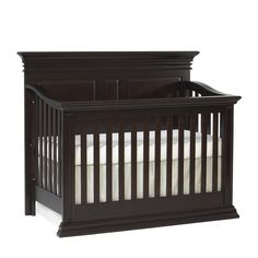 "Baby Cache Vienna Lifetime Convertible Crib - Espresso - Baby Cache - Babies ""R"" Us Nursery Furniture Collections, Baby Nursery Furniture, Baby Nursery Decor, Nursery Ideas, Twin Cribs, Baby Cribs, Crib With Changing Table, Crib For Sale, Baby Cache"
