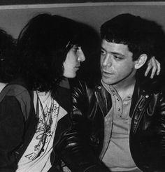 Lou Reed & Patti Smith. ☚ Patti Smith, Ms Smith, The Velvet Underground, Johnny Rotten, Joey Ramone, Bon Scott, Grace Slick, Anthony Kiedis, Peter Gabriel
