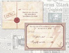 Harry Potter Wedding Invitations Digital // Geeky Custom Wedding //  Hogwarts Wedding // Custom Digital Wedding Invitations