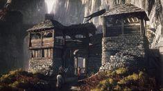 Wiedźmin Dziki Gon (gra), The Witcher Wild Hunt The Witcher 3, The Witcher Wild Hunt, Witcher Art, Medieval World, Medieval Town, Medieval Fantasy, Medieval Fortress, Fantasy Art Landscapes, Fantasy Landscape