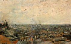 Toits de Paris par Vincent Van Gogh en 1886