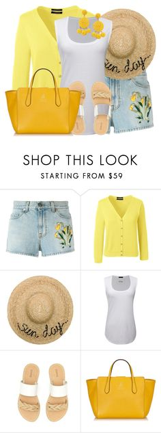 """""""Embroidered Shorts"""" by lbite ❤ liked on Polyvore featuring Gucci, Lands' End, Eugenia Kim, ATM by Anthony Thomas Melillo, Soludos, Humble Chic, shorts, gucci, polyvorecommunity and polyvoreeditorial"""