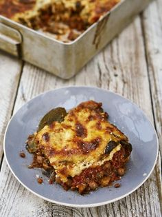Hearty and homely, this fantastic veggie Greek moussaka with a bit of a twist is a real family favourite – as seen on Jamie and Jimmy's Friday Night Feast. Enjoy!
