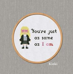 Cross stitch pattern Quote Luna Lovegood from Harry Potter
