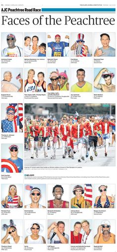 The Atlanta Journal-Constitution: Sports - AJC Peachtree Road Race, July 5, 2012.