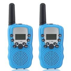 Crony T-388 UHF Band 3KM Small Walkie Talkie Blue(2 pcs). For product info go to:  https://all4hiking.com/products/crony-t-388-uhf-band-3km-small-walkie-talkie-blue2-pcs/