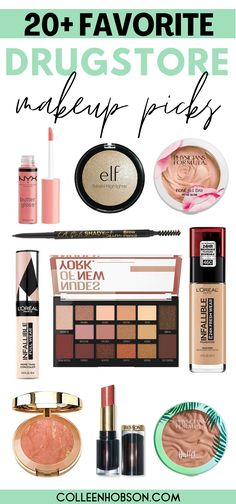 With so many amazing drugstore makeup products to choose from in 2020, here are top 3 picks from each of our favorite drugstore beauty brands for you to try out. #best #drugstore #makeup #products #brands Makeup Brush Dupes, Drugstore Makeup Dupes, Nyx Makeup, Makeup Swatches, Makeup Geek, Makeup Tips Foundation, Beauty Makeup Tips, Drugstore Foundation, Beauty Dupes