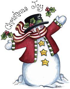 Snowman - Christmas joy
