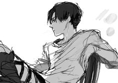 Discovered by Thə Fôllā-Mąn'Ƨ. Find images and videos about manga, attack on titan and shingeki no kyojin on We Heart It - the app to get lost in what you love. Levi Ackerman, Levi Mikasa, Eren E Levi, Attack On Titan Fanart, Attack On Titan Levi, Kuroko, Alluka Zoldyck, Fanarts Anime, Titans Anime