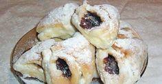 kg náplne podľa chuti - mak, lekvár, kg hladkej Bread Dough Recipe, Kolaci I Torte, Croatian Recipes, Dessert Recipes, Desserts, Bagel, Doughnut, Sushi, Cooking Recipes