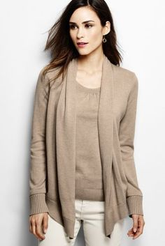 Women's Cotton Modal Open Drape Cardigan from Lands' End