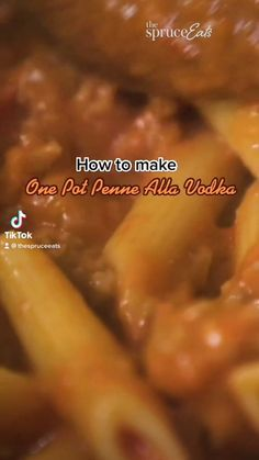 Veggie Recipes, Beef Recipes, Chicken Recipes, Cooking Recipes, Healthy Recipes, Italian Pasta Dishes, Salty Foods, Pasta Bake, One Pot Meals