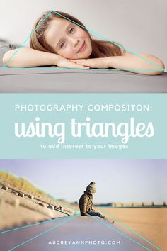 Make your photo compositions more interesting by creating triangles - they help divide the frame, guide the eye, and add visual interest. Great photography tip with examples!