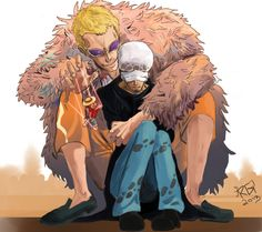 Donquixote Doflamingo and Trafalgar Law #one piece