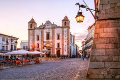The Main Square at Evora, Alentejo, Portugal by Joe Daniel Price on Visit Portugal, Spain And Portugal, Portugal Travel, Spain Travel, Travel Around The World, Around The Worlds, Places Ive Been, Places To Visit, Day Trips From Lisbon