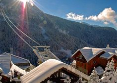 Fabulous selection of self-catered apartments and chalets in the resort of Vaujany