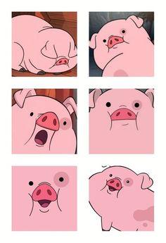 The many faces of cute Cartoon Wallpaper, Pig Wallpaper, Funny Phone Wallpaper, Cute Disney Wallpaper, Gravity Falls Art, Gravity Falls Waddles, Cute Piggies, Cute Wallpapers, Animal Crossing