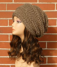 Hand Knit Chunky Slouchy Hat YOUR COLOR CHOICE by BoPeepsBonnets, $40.00
