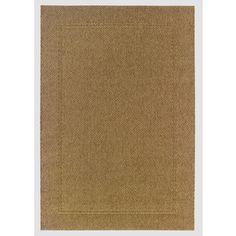 """Lowes       $78 allen+roth Grace 5'3"""" x 7'3"""" Rectangular Brown/Tan Border Indoor/Outdoor Area Rug"""