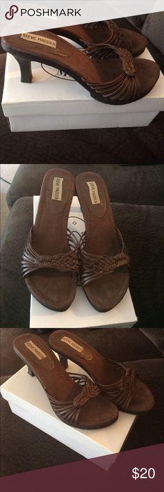 Steve Madden high heel sandles Brown high heel Steve Madden shoes. Steve Madden Shoes Heels
