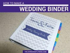 Organization is the key to success for wedding planning. Setting up a binder will help keep you on track, here's an example of how to make a wedding binder!
