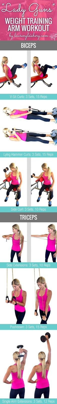 WEIGHT TRAINING ARM WORKOUT FOR WOMEN   Click for the full ConfidenceKini Challenge by LaurenGleisberg.com