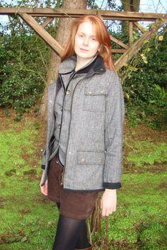Welligogs Jemima Tweed Jacket A new short herringbone tweed jacket 100 Wool and made in England This jacket is Teflon coated for extra water