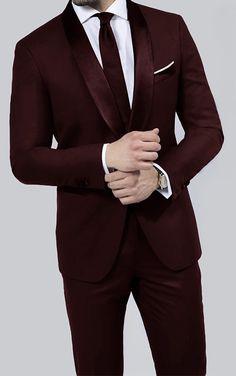 383888843fb Braveman Runway 2-Piece Slim-Fit Tuxedo in Burgundy Dark Red Suit Men