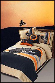 Motorcross Bedroom Theme Extreme Motocross Bedding Http Boysthemebedrooms Com Skater