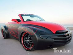 Custom Paint Jobs On Trucks - Bing Images Convertible, Chevy Hhr, Matte Black Cars, Chrysler Pt Cruiser, Lowered Trucks, Custom Paint Jobs, Classic Chevy Trucks, Cute Cars, Car Painting