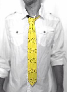Batman Tribal Yellow Necktie by TheGeektonian on Etsy Boyfriend, Husband, Son Christmas Gifts