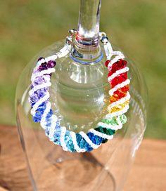 Rainbow Swarovski Crystal Twist Bracelet Stretch by HandmadeJILLry, $35.00