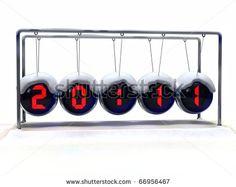 Newton Cradle Clock Newton's Cradle, Alarm Clock, Clocks, Wish, Display, Stock Photos, My Love, Products, Projection Alarm Clock