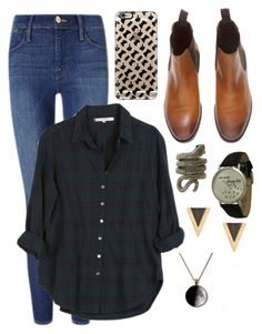 """""""Untitled #363"""" by thegivingtree ❤ liked on Polyvore featuring Frame Denim, Xirena, Casetify, Geneva and CO"""