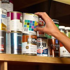 Next time you use up a can of paint, save the empty can and fill it up with valuables. Then put it back on the shelf with all your other cans.