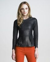 3.1-31 phillip lim leather peplum top would go great with the leather in the 31 hour bag! #shopstylefavorites