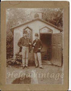 Antique cabinet photo men in hat, chapel/church, forest cca. Antique Cabinets, Large Photos, Studio Portraits, Religious Art, Rare Antique, Hats For Men, Vintage Photos, Couple Photos, Antiques