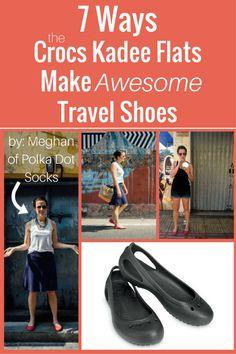 crocs kadee flats travel shoes pin