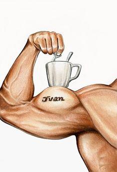 STRENGTH from the Coffee Tarot http://Tarot.Coffee