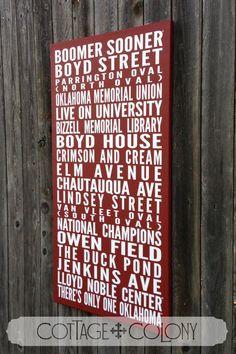 University of Oklahoma OU Destination Blind  by CottageColony, $105.00